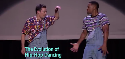 Musikgeschichte - Evolution of Hip-Hop Dancing with Jimmy Fallon and Will Smith ( 1 Video )