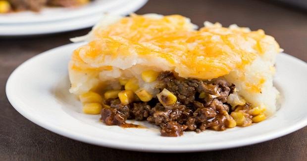 Barbecue Beef And Cheesy Potato Casserole Recipe