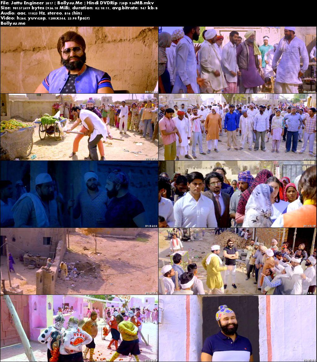 Jattu Engineer 2017 DVDRip 900MB Hindi Movie 720p
