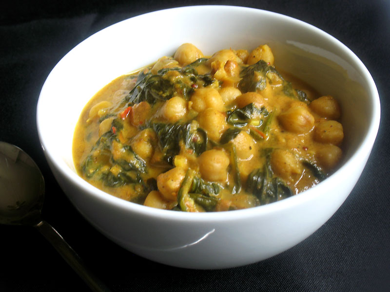 Chana palak spicy chickpeas and spinach lisas kitchen chana palak spicy chickpeas and spinach lisas kitchen vegetarian recipes cooking hints food nutrition articles forumfinder Gallery