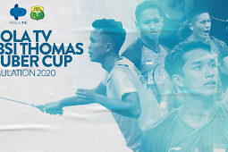 Live Streaming Mola TV PBSI Thomas-Uber Cup Simulation 2020