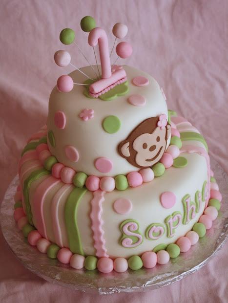 Pink & Green Mod Monkey Cake - Rose Atwater