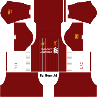 Kit Dream League Soccer Liverpool Home