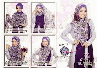 Inilah Tutorial Jilbab Pashmina Sifon Elegan