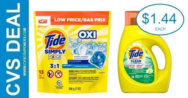 Tide Simply Detergent CVS Deal 5-23-5-29