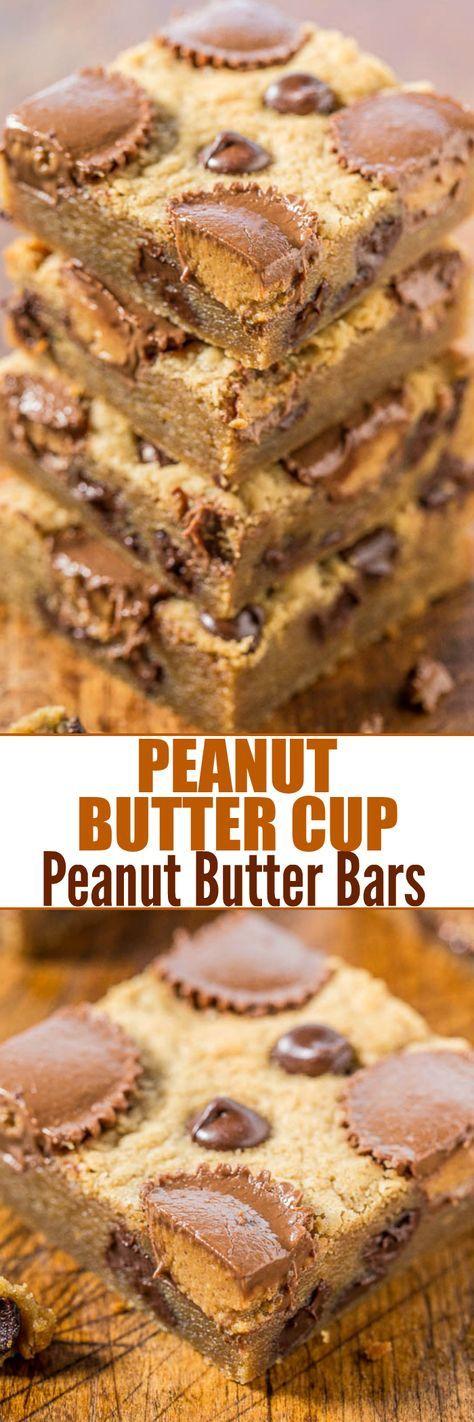 Peanut Butter Cup Peanut Butter Bars