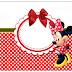 Minnie en Rayas Rojas: Etiquetas para Candy Bar para Imprimir Gratis.