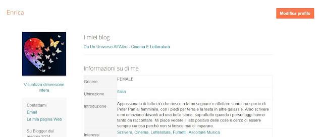 profilo di blogger