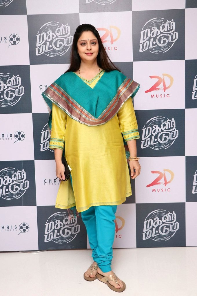 Actress Nagma Photos In Yellow Dress At Tamil Movie Audio Launch