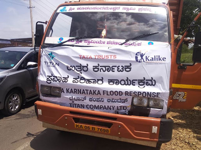 Tata Trusts and Titan Company Limited join hands to support flood affected victims in North Karnataka