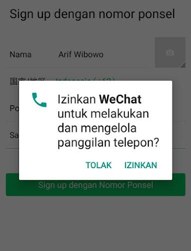 Panggilan Telepon WeChat