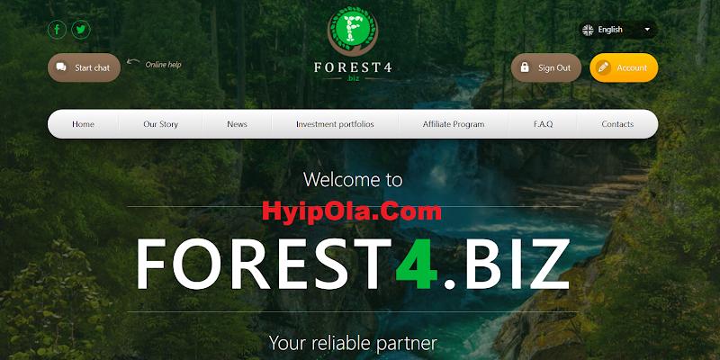 [SCAM] Review Forest4.biz - Site chiến nhanh lý tưởng với gói lãi 4% hằng ngày