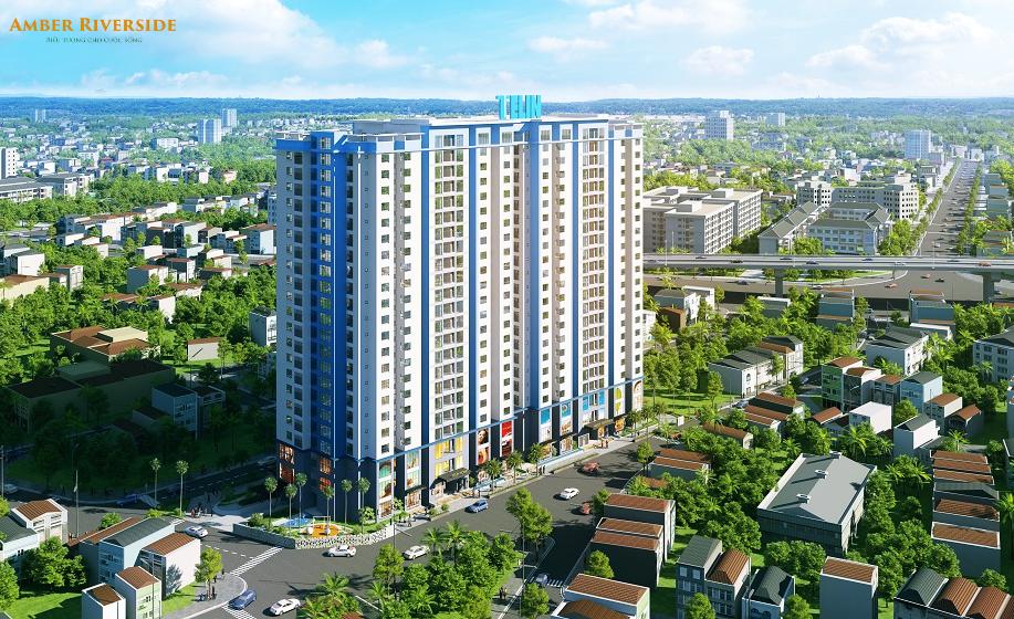 Tổng thể dự án chung cư Amber Riverside Minh Khai