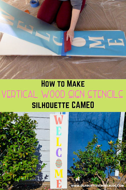silhouette 101, silhouette america blog, vertical sign, vertical porch sign, wood sign