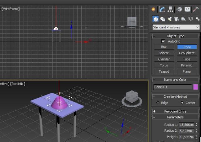 tutorial 3d max pemula gambar meja