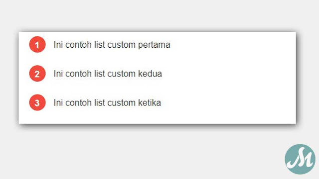 Custom List Number Blogger