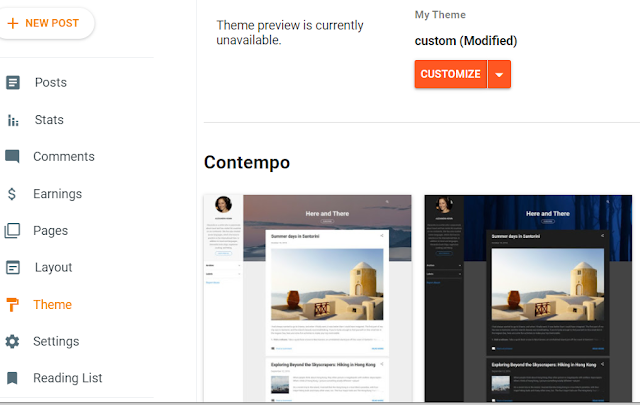 How to Change and Customize the Blogger theme ?