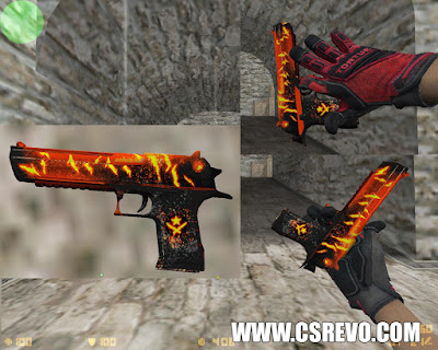 Skin Desert Eagle - Crimson Fire Storm (CS:GO) - HD para CS 1.6