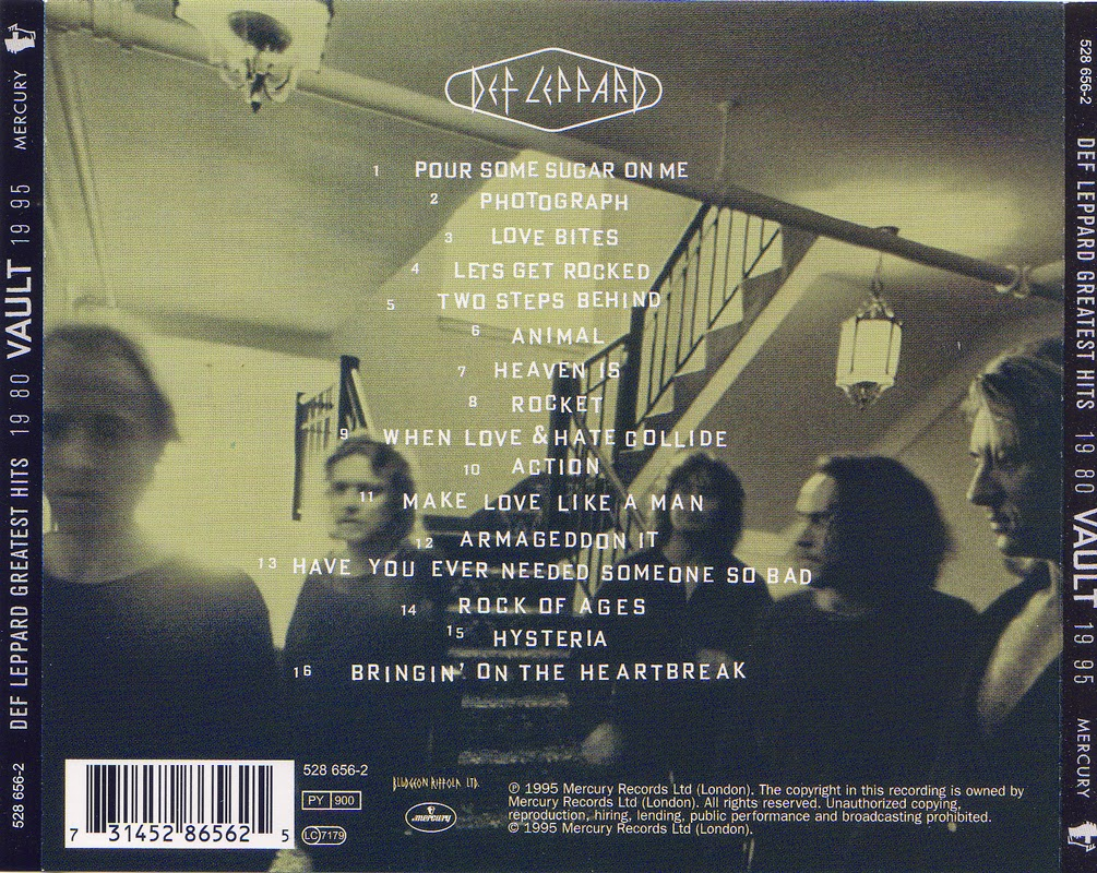 That was yesterday 1: Def Leppard - Greatest Hits VAULT
