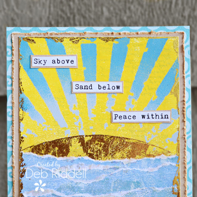 Peace Within Mixed Media Plaque Detail