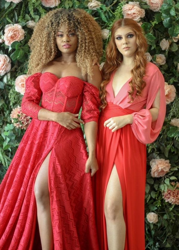 vestido de festa longo coral para madrinha de casamento