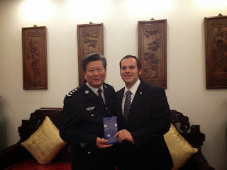 Martinez interacted with police executives in China.