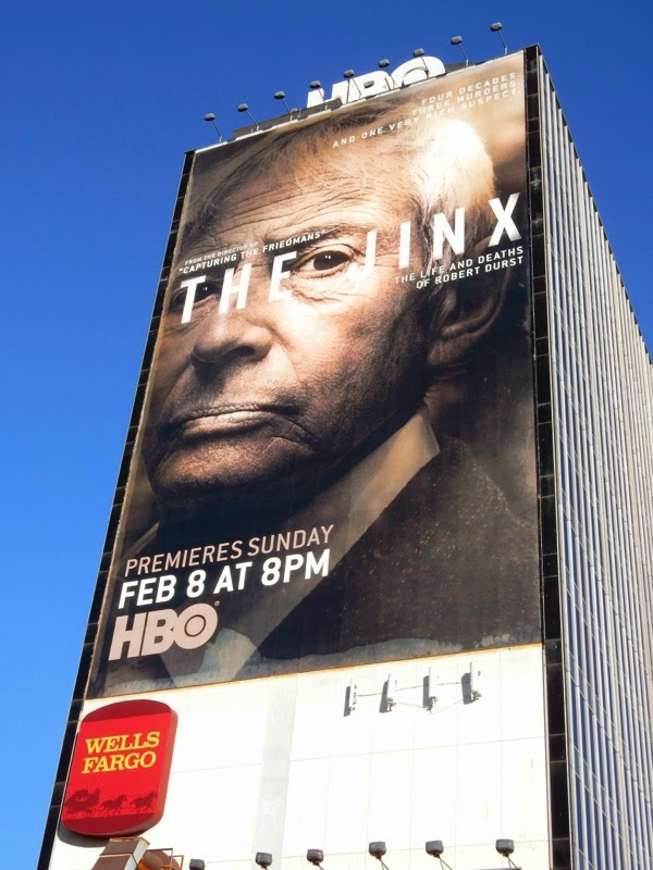 The Jinx HBO series premiere billboard