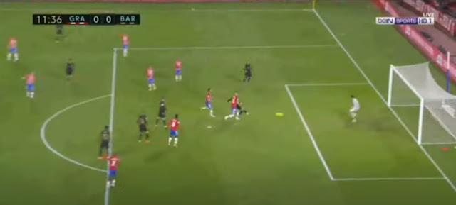 ملخص أهداف مباراة برشلونة وغرناطة اليوم ، فوز كبير لبرشلونة اليوم 4-0.
