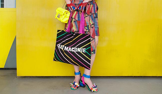 Kat Maconie, sandals, rainbow