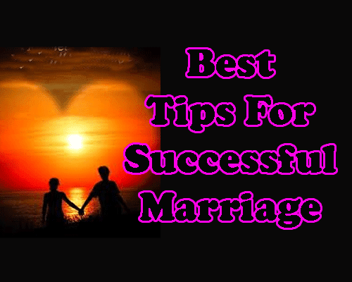 Tips for successful marriage
