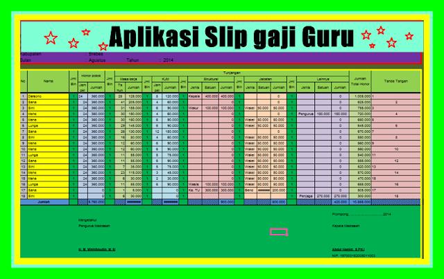 Aplikasi Slip Gaji Guru/Karyawan Terbaru Versi 2017/2018