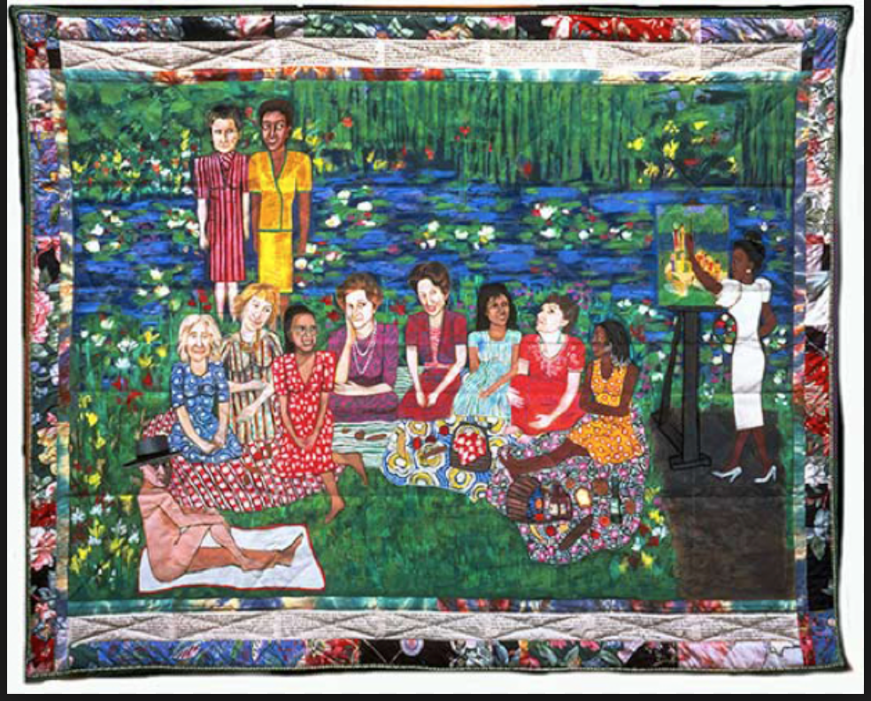 describe faith ringgold s tar beach painting Faith's mother would give her small pieces of fabric to  paintings, and they all reflect  multiple copies of tar beach by faith ringgold.
