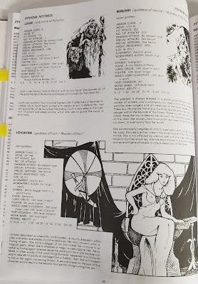 Page from the D&DG featuring Louhi, Loviatar and Mielikki