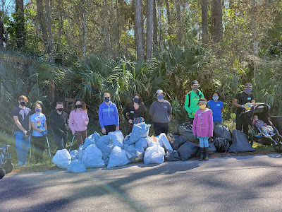 Volunteers at West Augustine Nature Society Clean-Up Event