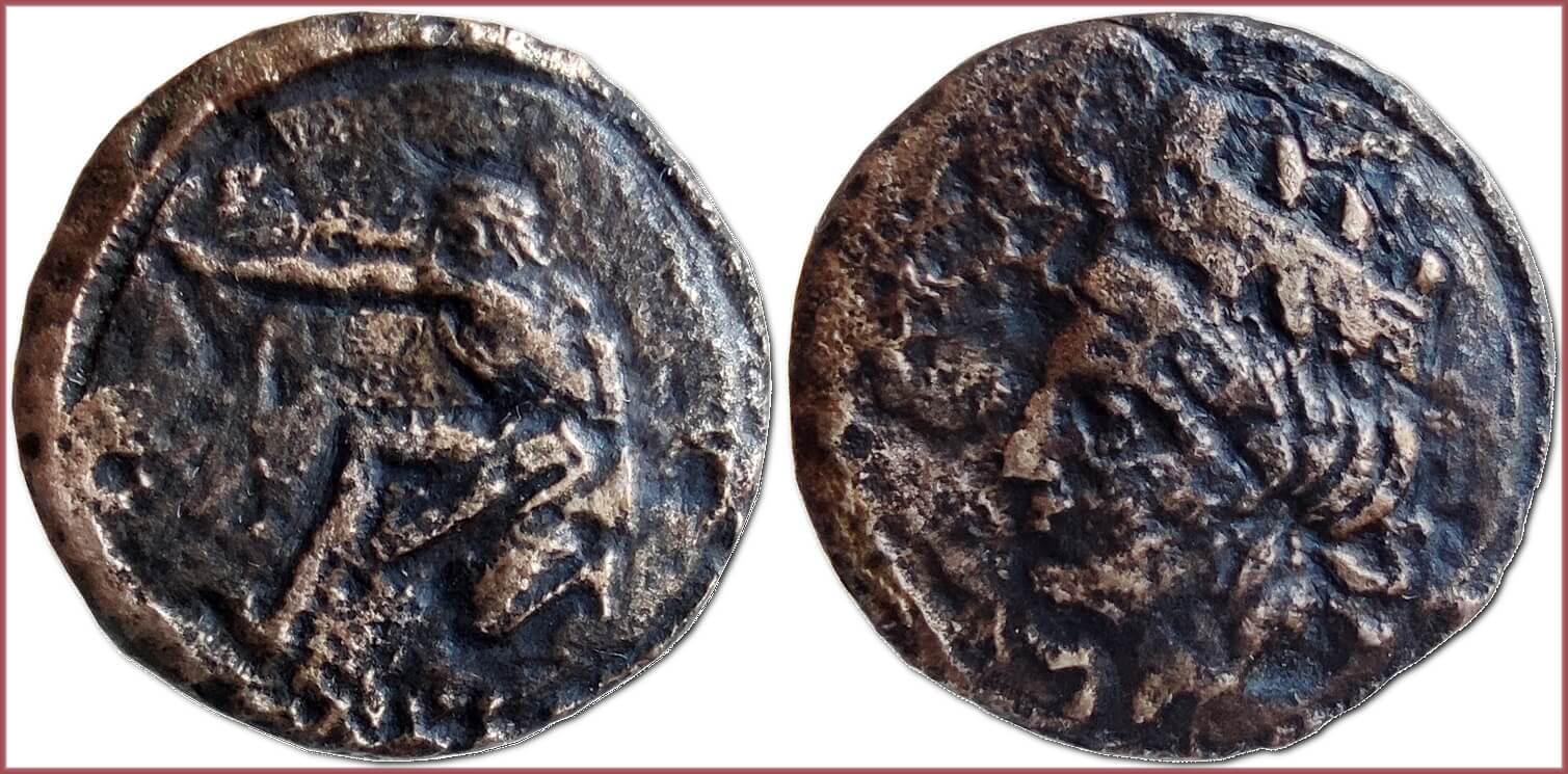 Dichalkon (δίχαλκον), 360-350 BC: ancient Greek city-state Olbia