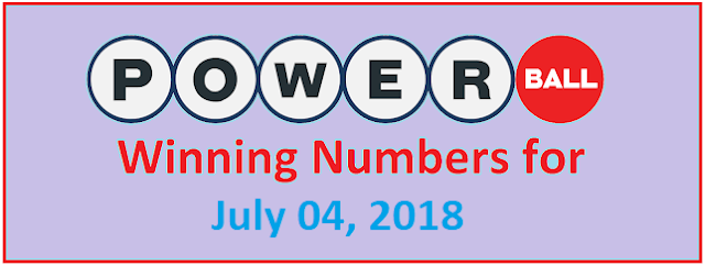 PowerBall Winning Numbers for Saturday, 04 July 2018
