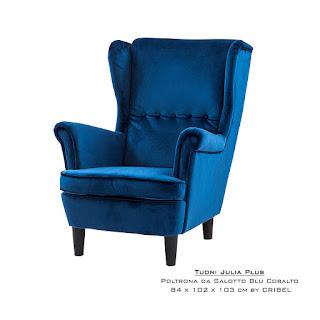 Offerta poltrona blu design