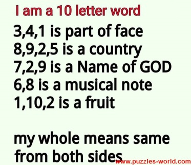 I am a 10 Letter word What am I
