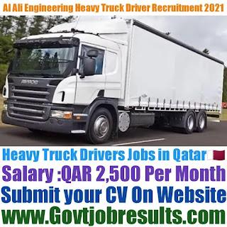 Al Ali Engineering Heavy Truck Driver Recruitment 2021-22