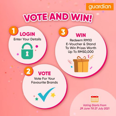 Guardian Awards 2021, Vote for Best Health and Beauty Brands, Vote & Win, Guardian, Guardian Malaysia, Heath, Beauty, Lifestyle v