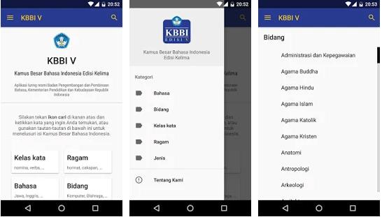 Aplikasi KBBI di Android