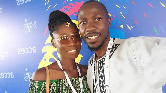 YaaYaa and Douglas during ACCES in Accra, Ghana