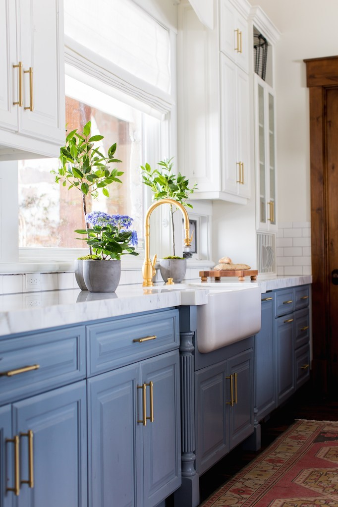 Van Cortland Blue Kitchen Cabinets