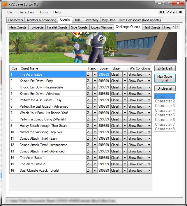Xenoverse 2 Save Editor: XV2 Save Editor 0 8