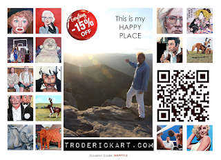 15% off coupon code happy15 troderickart.com