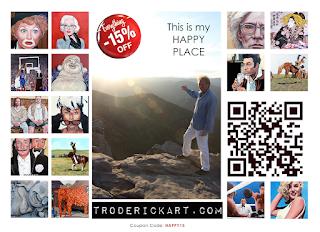 15% off coupon code happy15 troderickart.com
