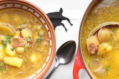 soupe ail amandes et pommes de terre