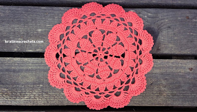 Coral Lace Doily Free Crochet Pattern
