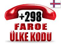 +298 Faroe Adaları ülke telefon kodu
