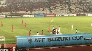 Final results of the Indonesia vs Philippines national team in the 2018 AFF Cup - Final Score 0-0